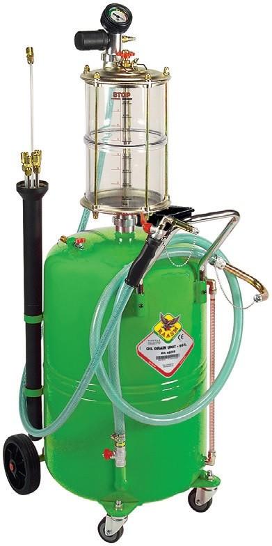 Recuperator de ulei prin absorbtie cu vas de vizitare