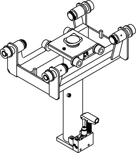 GHS10 - Cric de canal suspendat 10t, pneumatic + manual