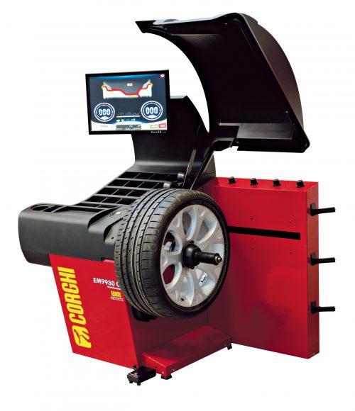 EM9980 Touchless Line - Masina echilibrat Touchless - analiza profil pneu
